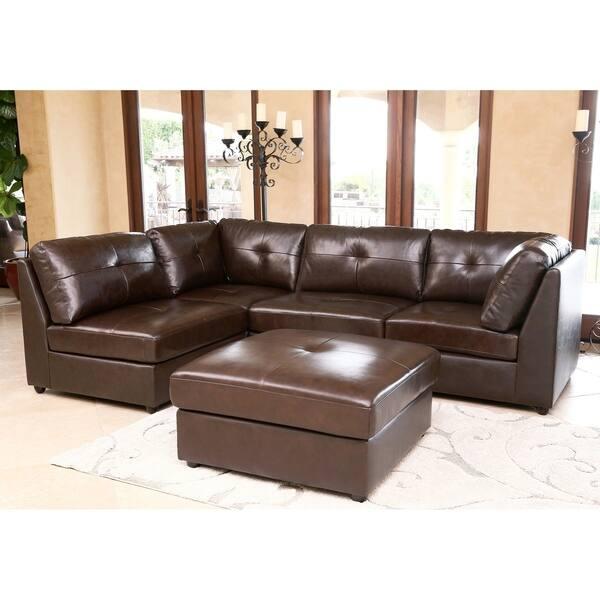 Fine Shop Abbyson Living Cameron Top Grain Leather 5 Piece Unemploymentrelief Wooden Chair Designs For Living Room Unemploymentrelieforg