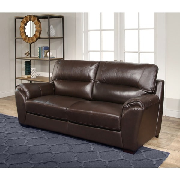 Abbyson Caprice 3-piece Top Grain Leather Sofa Set - Free Shipping Today - Overstock.com - 16919508