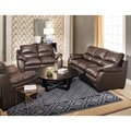 Abbyson Monarch 3-Piece Top Grain Leather Sofa Set