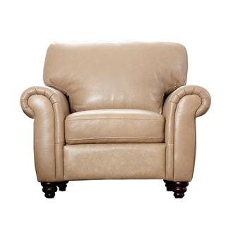 Abbyson Parker Premium Leather Armchair
