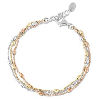 Link to La Preciosa Tri-color 3-strand Sterling Silver Bracelet Similar Items in Bracelets