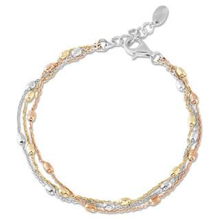 Link to La Preciosa Tri-color 3-strand Sterling Silver Bracelet Similar Items in Men's Jewelry