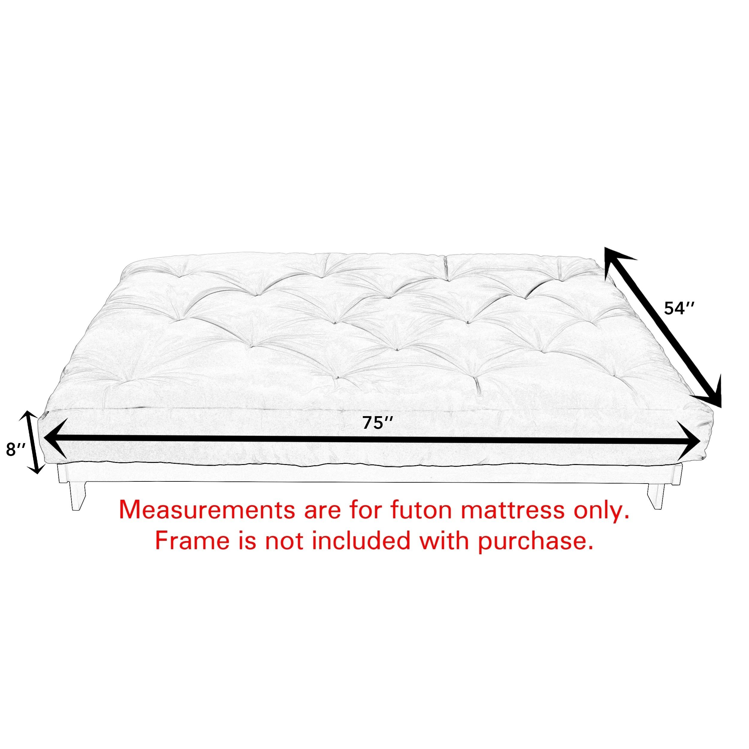 Suede Gel Memory Foam Futon Mattress