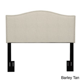 Handy Living Lucca King/ California King Upholstered Crescent Shaped Headboard