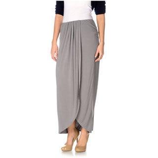 Chelsea & Theodore Women's Drape Front Maxi Skirt