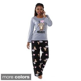 Hadari Women's 'I Love Nerds' Pajama Set