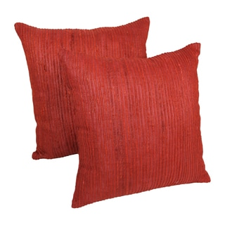 Blazing Needles 20-inch Yarn Woven Throw Pillows (Set of 2)
