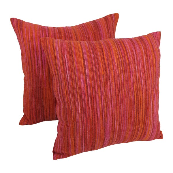Throw Pillows Set Of 4 : Blazing Needles 20-inch Red Palette Striped Throw Pillows (Set of 2) - Free Shipping Today ...