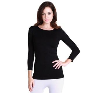 Nikibiki Women's Seamless 3/4-sleeve Top (One size)