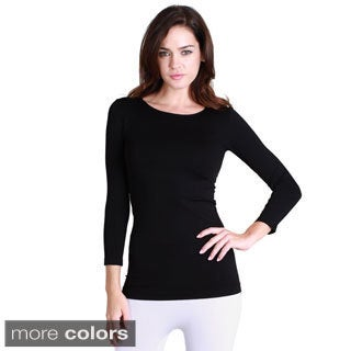 Nikibiki Women's Seamless 3/4-sleeve Top (One size)|https://ak1.ostkcdn.com/images/products/9746142/P16919597.jpg?_ostk_perf_=percv&impolicy=medium