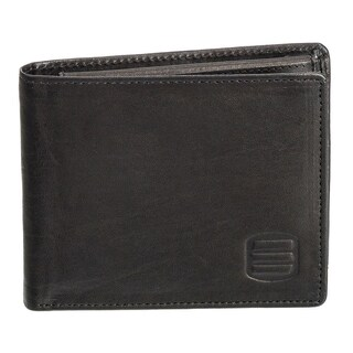 Suvelle W031 Men's Slim Leather Bifold Removable Flip-up ID Window Wallet (2 options available)