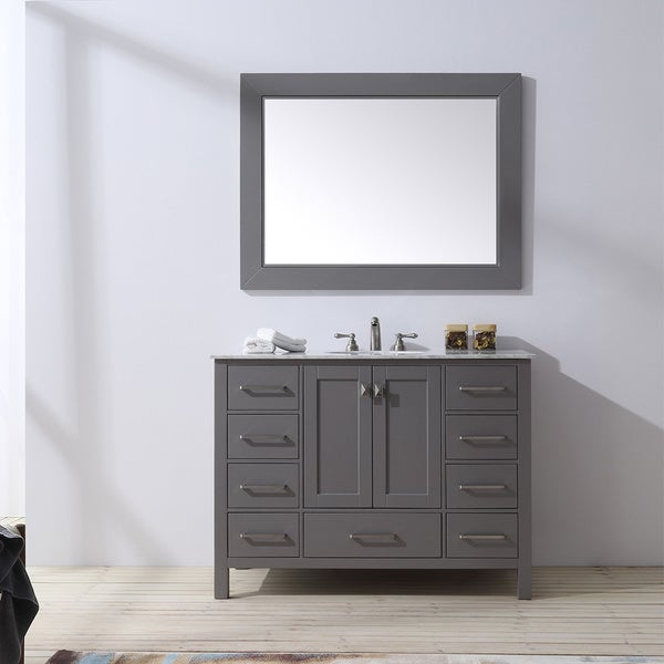 Shop Malibu Gray Single Sink Bathroom Vanity With 47-inch ...