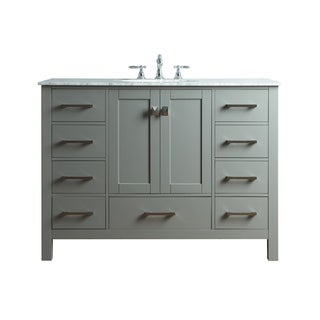 Malibu Gray Single Sink Bathroom Vanity