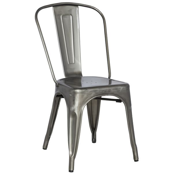 High Quality Somette Gun Metal Galvanized Steel Side Chair (Set Of 4)