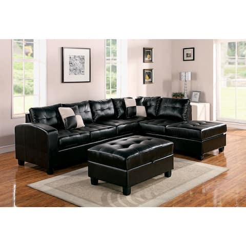 Kiva Bonded Leather Match Sectional Sofa
