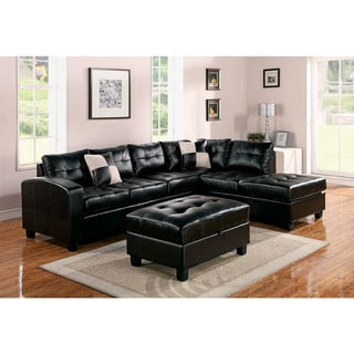 Kiva Bonded Leather Match Sectional Sofa