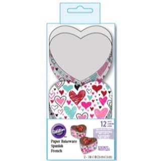 "Disposable Bakeware 12/Pkg-3"" Heart"