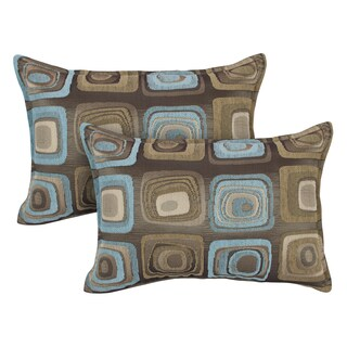 Sherry Kline Retro Spa Blue Boudoir Decorative Throw Pillows (Set of 2)