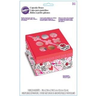 Cupcake Bakery Box 3/Pkg-Spread Love & Sprinkle Kindness 4 Cavity