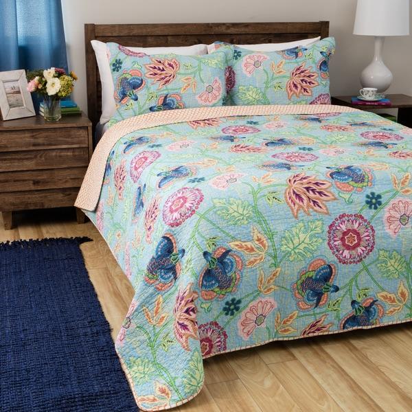 Shop Greenland Home Fashions Mystic Cotton 3-piece Quilt