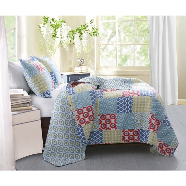 Greenland Home Fashions Kendall Cotton 3-piece Quilt Set