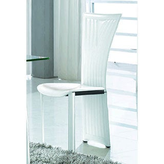 Somette Regan White Fan Back Side Chair (Set of 4)