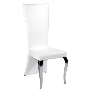 Somette Tabitha White Rectangle High Back Side Chair (Set of 2)