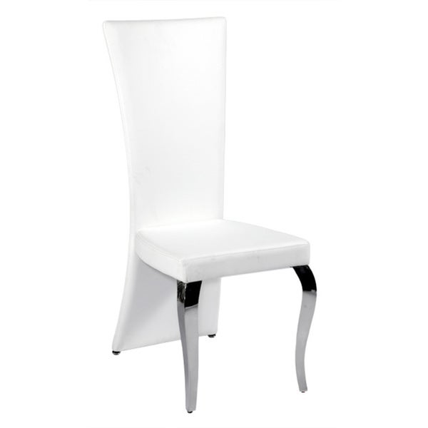 Somette Tabitha White Rectangle High Back Dining Chair Set Of 2