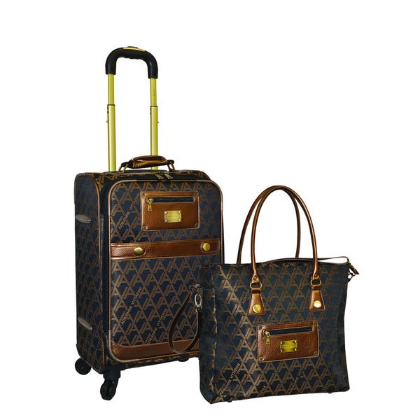 Shop Adrienne Vittadini 2 Piece Carry On Fashion Spinner