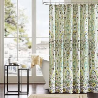 Mint Green Shower Curtain. Intelligent Design Ellie Shower Curtain Green Curtains For Less  Overstock com Vibrant Fabric