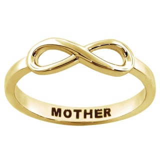 Eternally Haute Sterling Silver 'Mother' Sentiment Infinity Ring