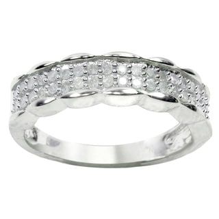 Sterling Silver 1/4ct TDW Diamond Band Ring