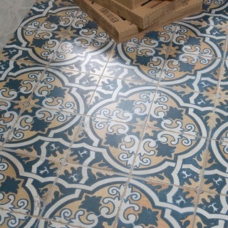 Link to SomerTile 17.63x17.63-inch Royals Canarsie Ceramic Floor and Wall Tile (5 tiles/11.02 sqft.) Similar Items in Tile