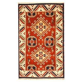Herat Oriental Indo Hand-knotted Tribal Kazak Wool Rug (3'2 x 5')