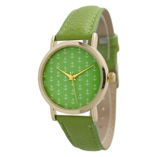 Olivia Pratt Women's Mini Anchor Leather Band Watch