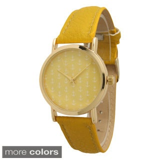 Olivia Pratt Women's Mini Anchor Leather Band Watch