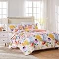 Greenland Home Fashions Watercolor Dream 3-piece Cotton Quilt Set