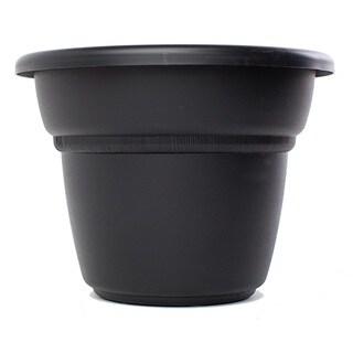 Bloem Milano Black Planter (Pack of 24)
