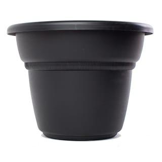 Bloem Milano Black Planter (Pack of 6)