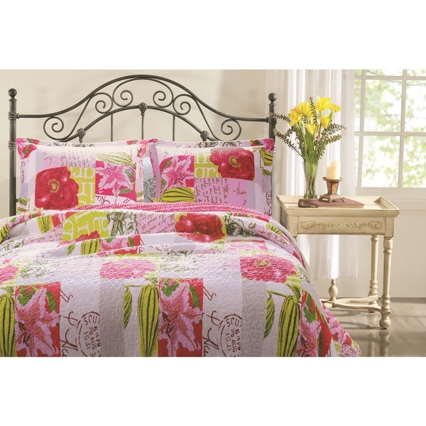 Greenland Home Fashions Love Letters 100-percent Pre-shrunk Cotton 3-piece Quilt Set