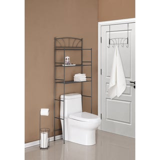 Three Piece Palm Design Combo Bathroom Storage Kit