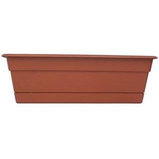 Bloem Dura Cotta Terra Cotta Window Box Planter (Pack of 6)