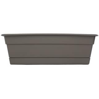 Bloem Dura Cotta Peppercorn Window Box Planter (Pack of 6)