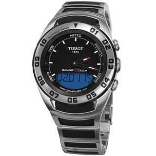 Tissot Men's T056.420.21.051.00 'Sailing Touch' Black Dial Stainless Steel/Rubber Multifunction Watch