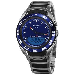 Tissot Men's T056.420.21.041.00 'Sailing Touch' Blue Dial Stainless Steel/ Rubber Multifunction Watc|https://ak1.ostkcdn.com/images/products/9746803/P16920422.jpg?impolicy=medium