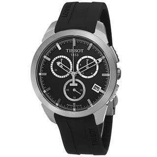 Tissot Men's T069.417.47.051.00 'T Sport' Black Dial Black Rubber Strap Titanium Watch