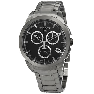Tissot Men's T069.417.44.051.00 'T Sport' Black Dial Titanium Bracelet Chronograph Watch
