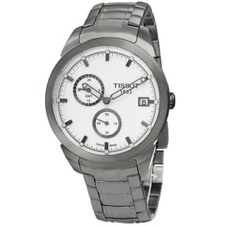 Tissot Men's T069.439.44.031.00 'T Sport' Silver Dial Titanium Bracelet GMT Quartz Watch|https://ak1.ostkcdn.com/images/products/9746817/P16920435.jpg?impolicy=medium