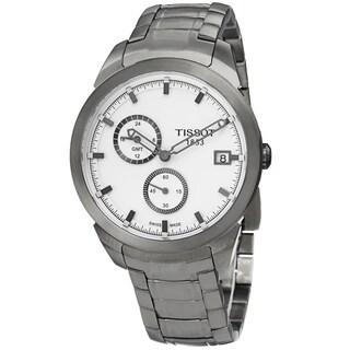 Tissot Men's T069.439.44.031.00 'T Sport' Silver Dial Titanium Bracelet GMT Quartz Watch