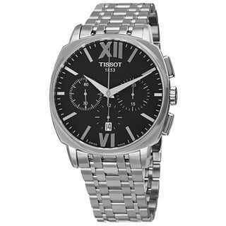 Tissot Men's T059.527.11.058.00 'Veloci-T' Black Dial Stainless Steel Chronograph Automatic Watch